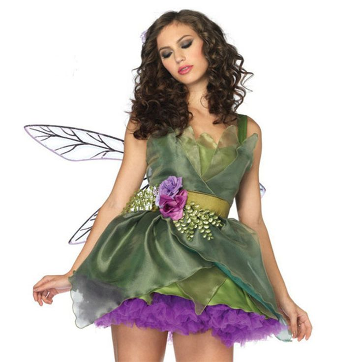 halloween costumes for women sexy woodland green fairy tinkerbell dresses outfit adult halloween costume new cosplay - Green Fairy Halloween Costume