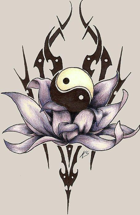 plus de 25 id es tendance dans la cat gorie tatouage ying. Black Bedroom Furniture Sets. Home Design Ideas