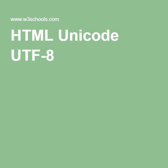 HTML Unicode UTF-8 Arrow Codes
