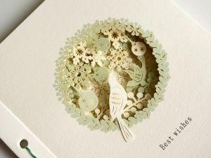 画像2: 【Mon cher】Story book card/小鳥/ベビー/メッセージカード/ギフトカード/ストーリーブックカード/ペーパーワーク