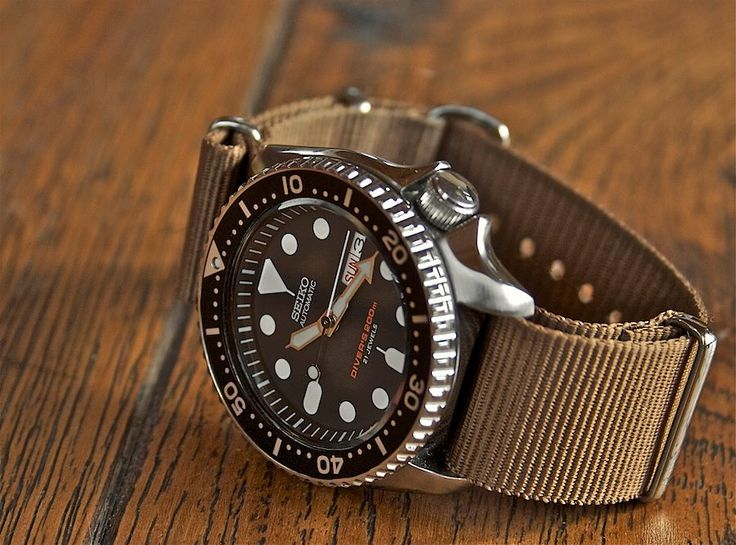 "realedc: "" gear-pics: "" Seiko SKX007J. "" Classic time keeper on a classic strap. """