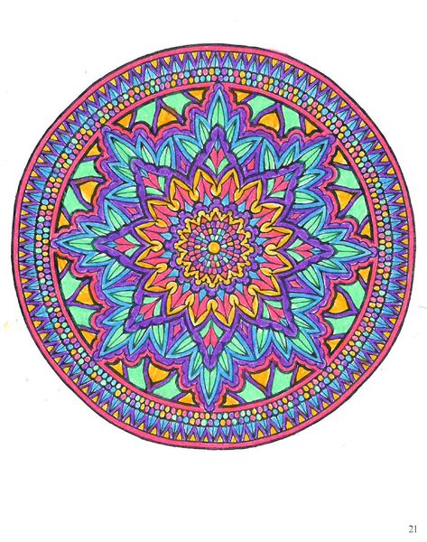 Maia L. (Under 12 division) from Mystical Mandala Coloring Book: http://store.doverpublications.com/0486456943.html