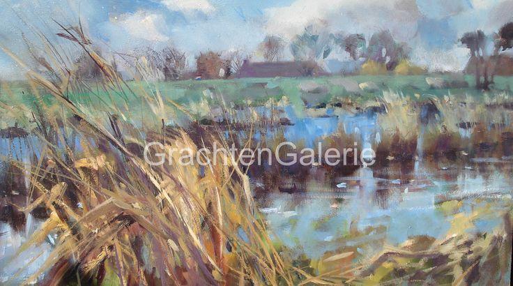 Nieuwkoopse plassen | Corry Kooy | Schilderij | Landscape | Art