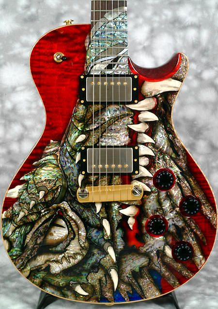 #PRS #Dragon #Singlecut 2000 Artistic, yes. But please save the Abalone for the sea lions?