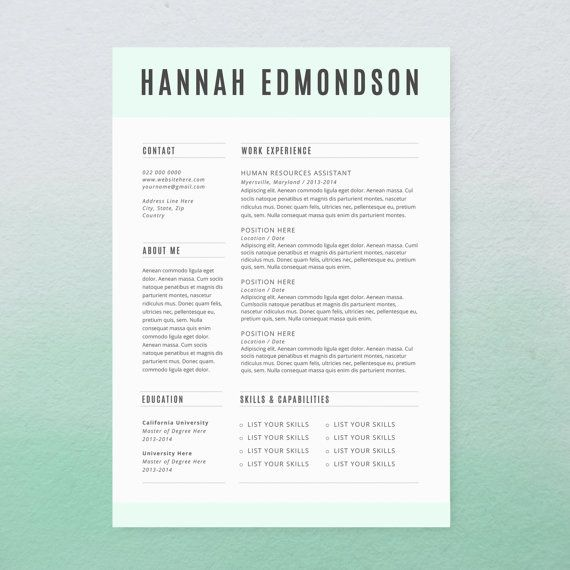 21 best Gorgeous Resume Designs images on Pinterest Design - microsoft resume