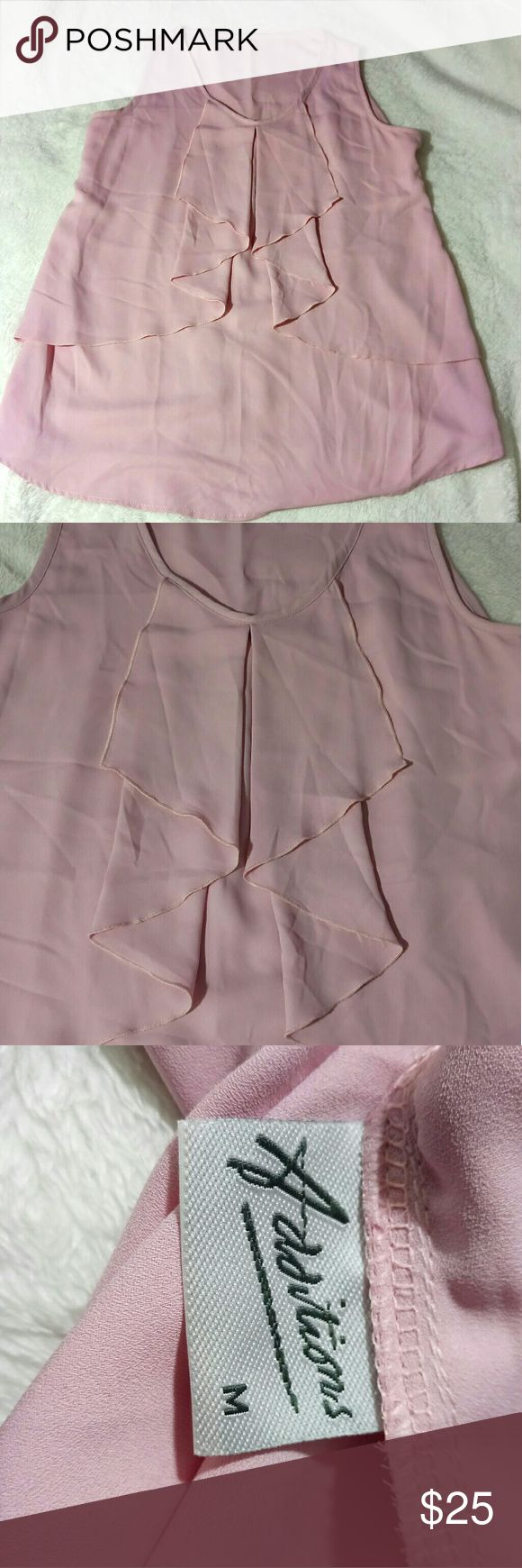 Addition Elle pastel pink ruffled top Addition Elle pastel pink ruffled top plus size medium used a few times. In great condition very flowy and cool perfect for summer Addition  Tops