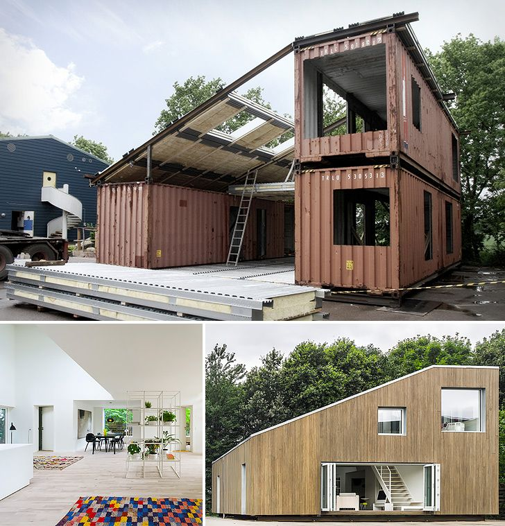 """Ok, so not technically """"small"""" but certainly sustainable and beautiful.  Why aren't we making more of these Upcycled Shipping Container House"""
