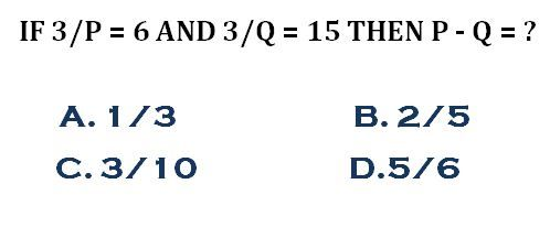 Brain IQ - Common Admission Test (CAT) Math Question