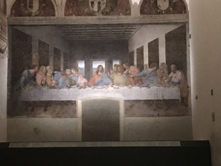 Santa Maria delle Grazie in Milan, Italy. The Last Supper by Leonardo Da Vinci
