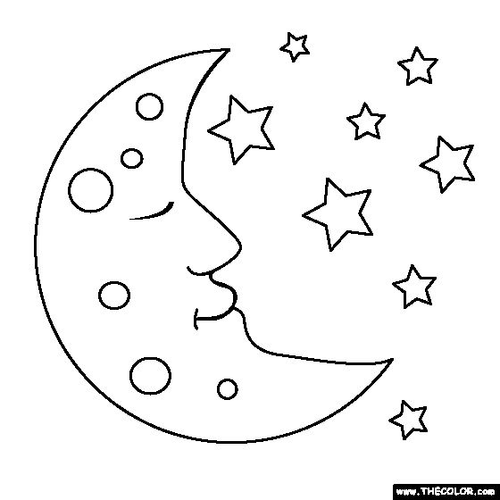 103 best MOON AND STARS images on Pinterest Drawings Coloring