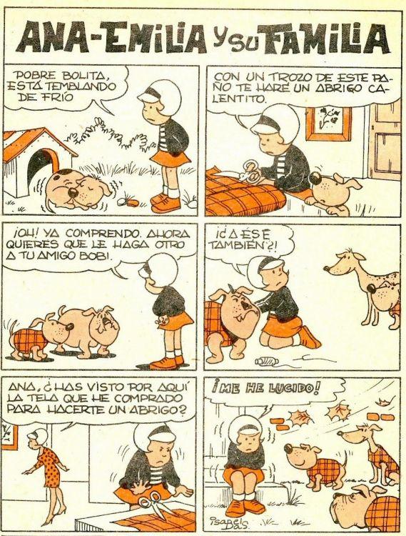 Isabel Bas Amat. (1931) Dibujante y guionista del TBO. Una de las seis mujeres que publicaron en el semanario - Ana Emilia y su familia.