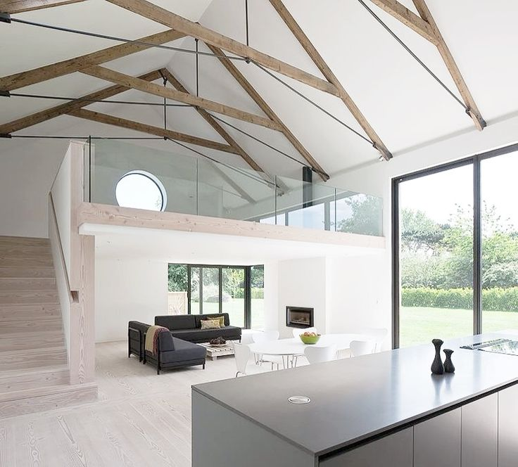 Trusses + Joinery + Black + White + Timber