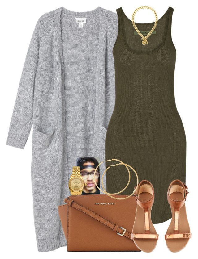 """""""Untitled #1293"""" by power-beauty ❤ liked on Polyvore featuring Monki, Enza Costa, Rolex, MICHAEL Michael Kors, H&M and Juicy Couture"""