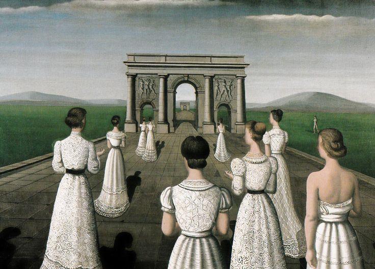 Paul delvaux optocht in kant 1936 decorative ideas for Paul delvaux le miroir