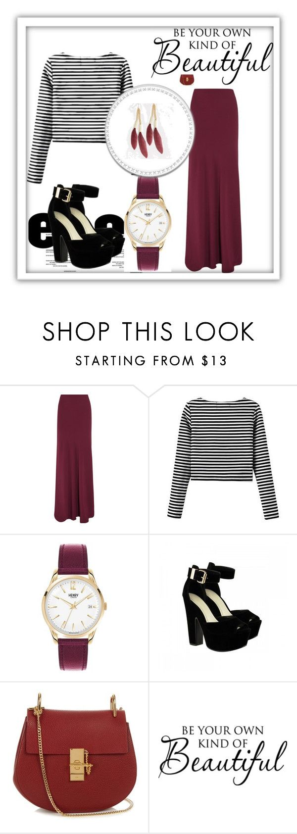 """Burgundy lover"" by balmahe on Polyvore featuring Maria Grachvogel, Henry London, Chloé, skirt, long and burgundy"