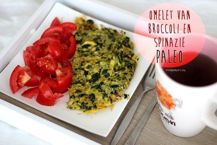 Recept: Broccoli en Spinazie Omelet. PALEO!
