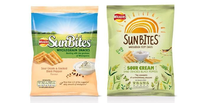 Walkers Sunbites before and after #packaging