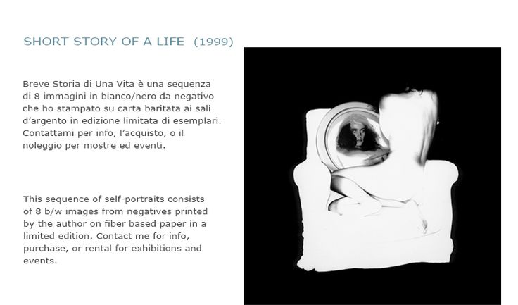 From the self-portraits sequence: Short story of a life, fine-art picture from negative printed in a limited edition