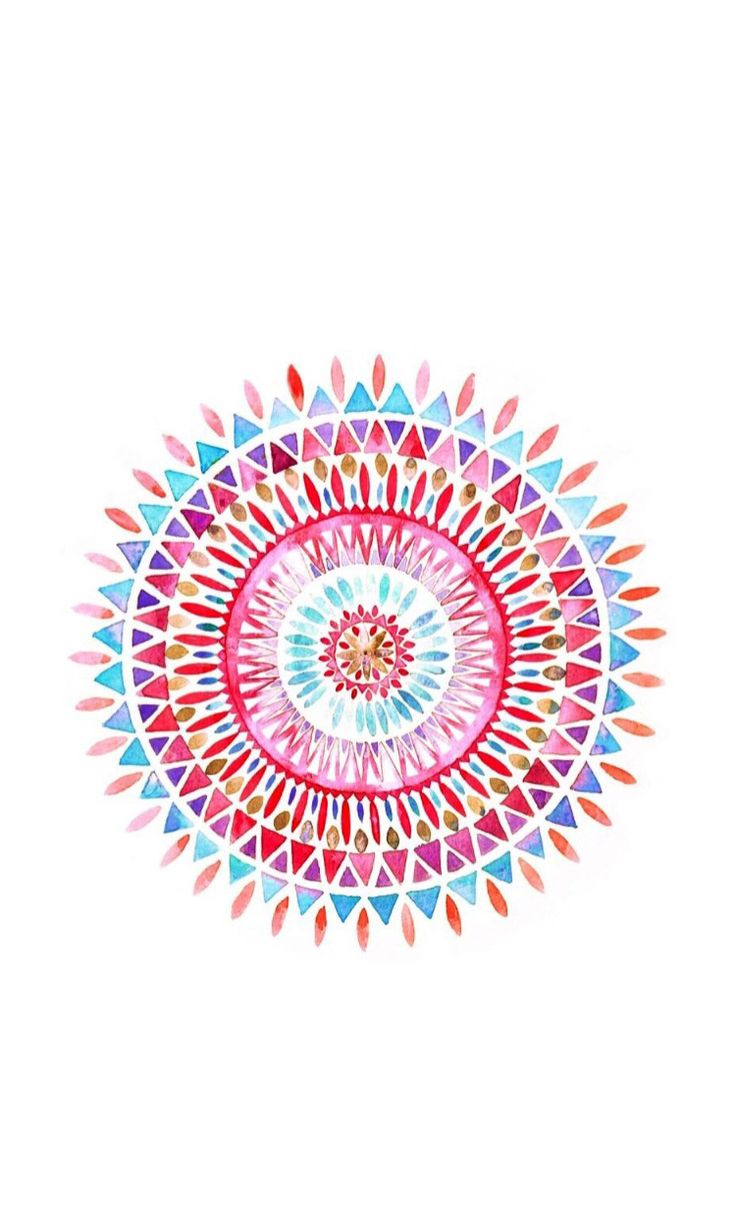Mandala ★ Find more watercolor Android + iPhone wallpapers @prettywallpaper