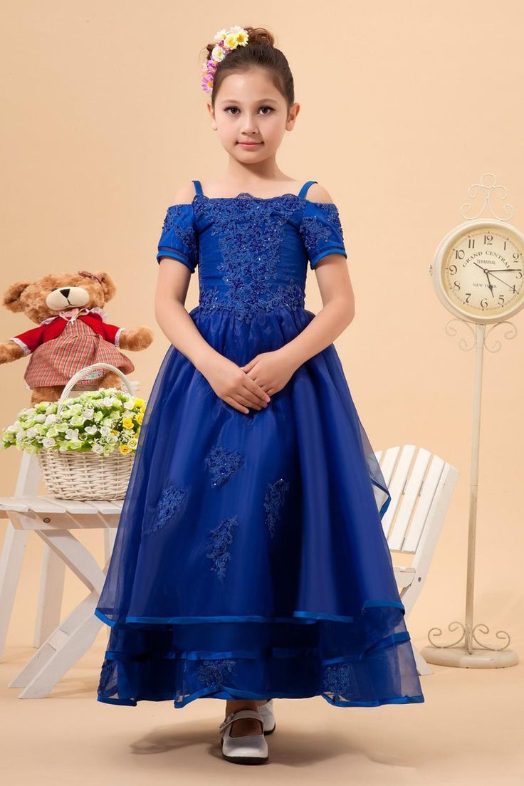 New Arrival Flower Girl Dresses A Line Ball Gown Bateau Ankle Length Organza USD 109.99 LDPEBMSE18 - LovingDresses.com