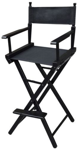 NEW Professional Foldable Makeup Artist Directors Wood Chair Light Weight Black | eBay