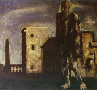 Mario Sironi Il viandante (The Wanderer) 1923