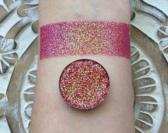 Lava storm iridescent pressed glitter eyeshadow 26mm magnetic
