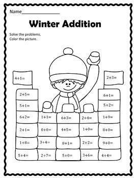 Free Winter Addition Worksheet