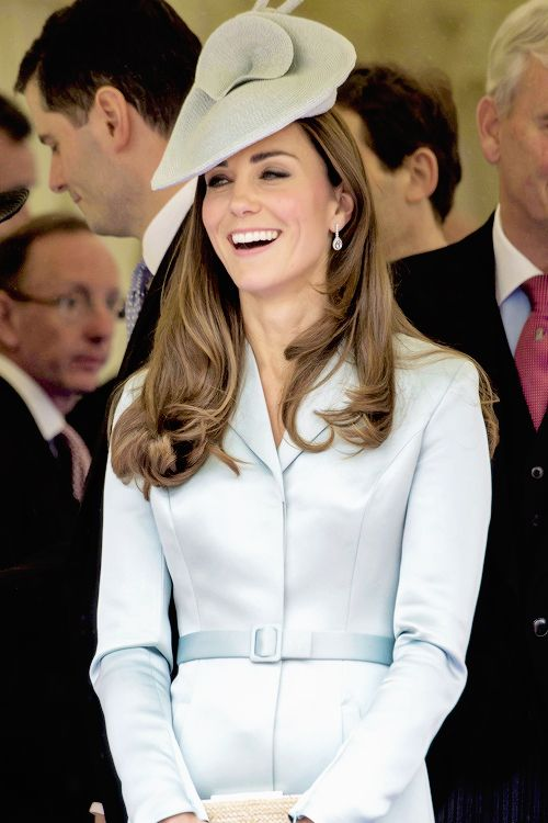 HRH The Duchess of Cambridge watching the Order of the Garter Procession, 16th June, St George's Chapel, Windsor