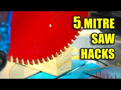 5 Quick Mitre Saw Hacks! #woodworking