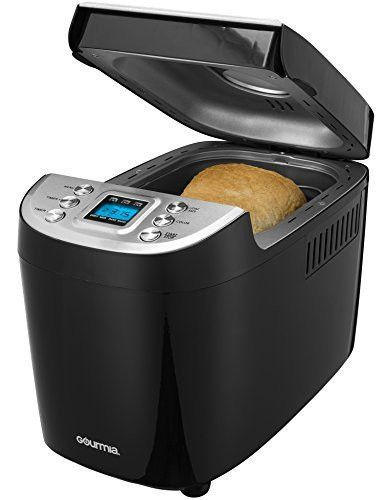 Gourmia GBM3100 - 3 LB Electric Bread Maker 15 Digital Programs for Gluten Free and More, Programmable LCD Display, Adjustable Crust Controls, Includes Free Recipe Book