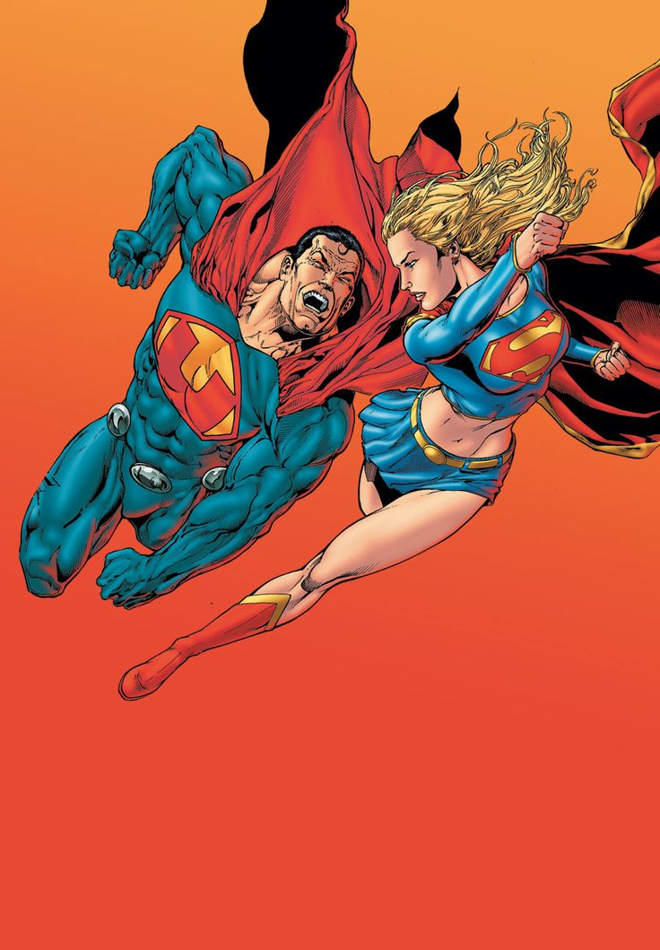 Ultraman vs. Supergirl | By: Ethan Van Sciver, via Comic Art Community