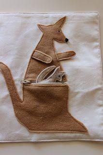 Kangaroo quiet book page!