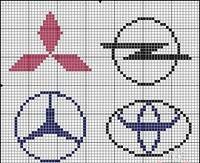 Cars logo x-stitch