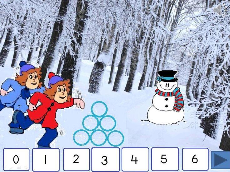 Digibordles winter: splitsen van 6 - Juf Anja