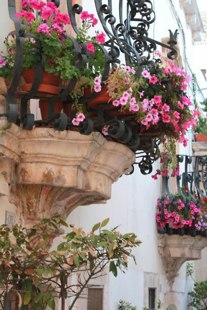 Comment avoir un balcon fleuri id es en 50 photos photos deco and comment - Idee deco balcon ...