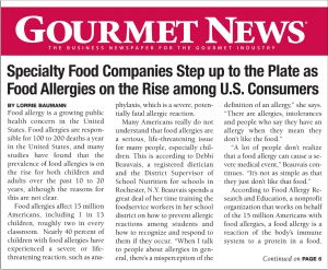 Mainstream publications serving the food and beverage industry are beginning to turn their attention to the issue of food allergies.