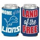 NFL Detroit Lions Two-Sided Patriotic Can Cooler