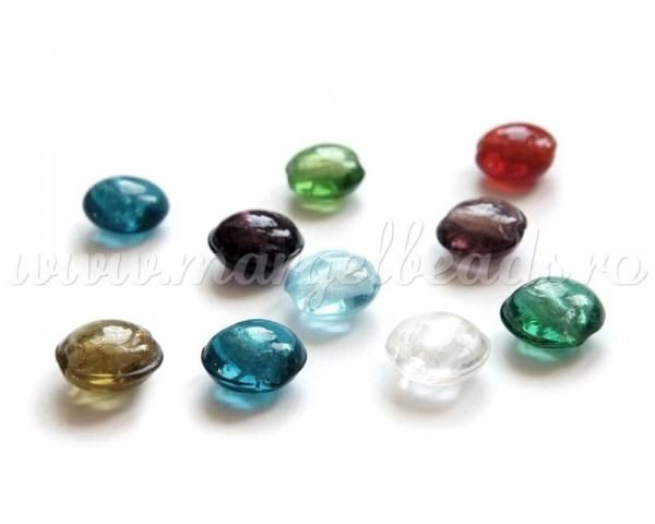 Silver foil glass beads - www.margelbeads.com