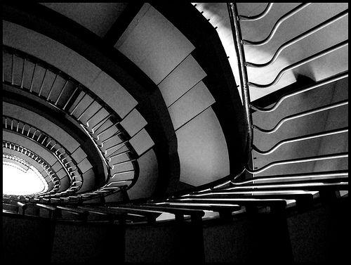 Franco Albini. La Rinascente staircase. Roma.