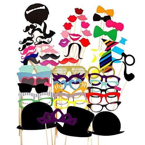 58PCS Colorful Props On A Stick Mustache Photo Booth Party Fun Wedding Favor Christmas Birthday Favor - http://www.darrenblogs.com/2017/04/58pcs-colorful-props-on-a-stick-mustache-photo-booth-party-fun-wedding-favor-christmas-birthday-favor/