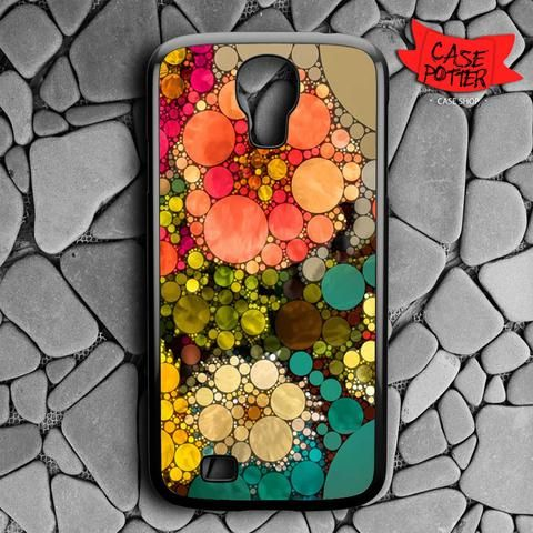 Pattern Round Full Color Samsung Galaxy S4 Black Case