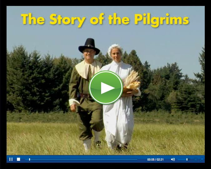 This would be a social studies lesson.  This video is a lesson on pilgrims.  It is a video that talks about pilgrims but also makes it easy for the students to understand.  I would show this video then have an activity afterwards.
