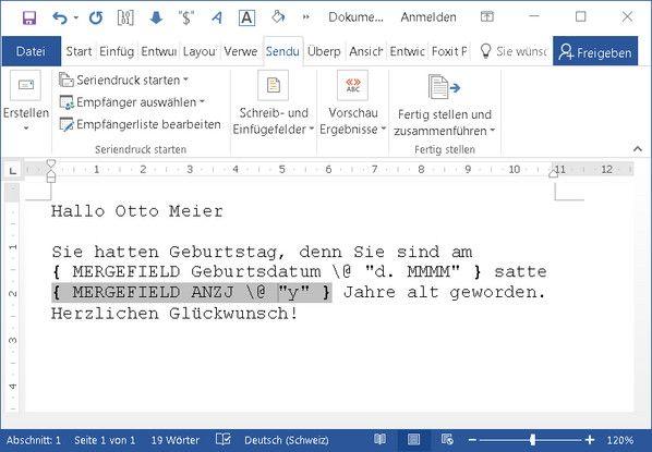 Word Serienbrief Datumsformat Anpassen Datum Brief Serien