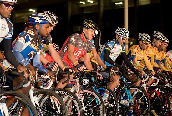 The Cape Argus Cycle tour in Cape Town, the largest cycling event in the world