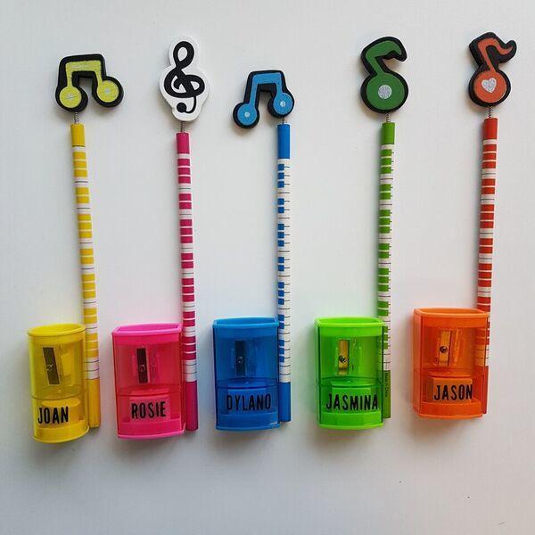 Muziekpotlood met puntenslijper
