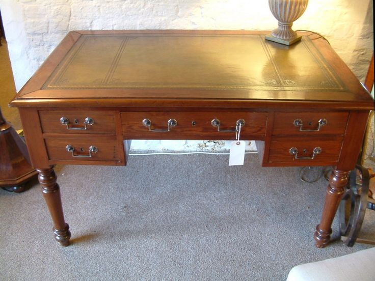A Pitch Pine Writing Table c.1880
