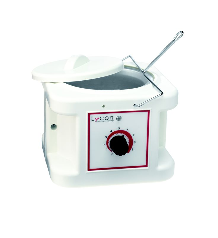 LYCON Professional 1L Wax Heater. Exclusively made in Italy for LYCON, this superior quality heater is made to last. Features a unique adjustable, easy control thermostat which dispenses heat evenly and quickly. Perfect for all LYCON hot and strip waxes. #LYCON