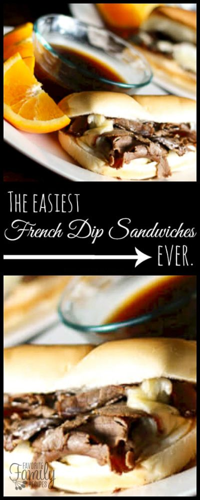 These Super Easy French Dip Subs are perfectly named. They are as easy as you can get and they are delicious! The perfect weeknight meal! via @favfamilyrecipz