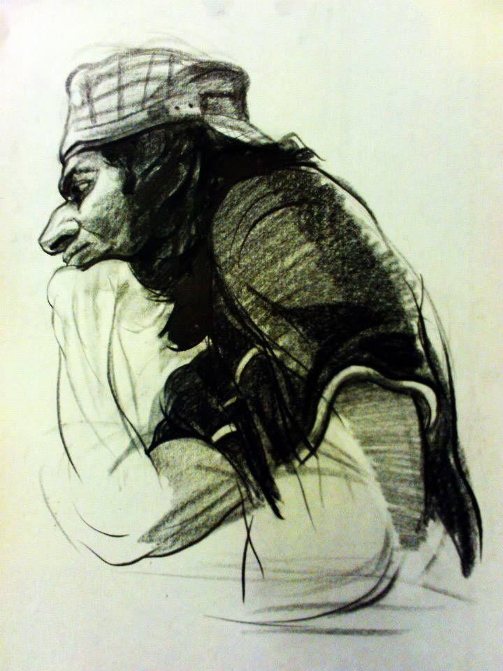 Nasrin CHARKHAT - graphite on paper-  35 * 50 cm - 2011